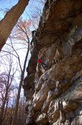 Rock Climbing Photo: Jeremy Steck working through the crux of Soul Rebe...
