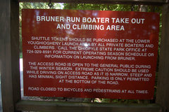 Rock Climbing Photo: The signage located at the top of the Bruner Run t...