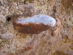 Rock Climbing Photo: Incredible cobble in the rock.