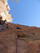 Rock Climbing Photo: Arjun heading heading toward the pod on El Throatc...