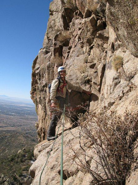 Rock Climbing Photo: Diagonal: start of first pitch.