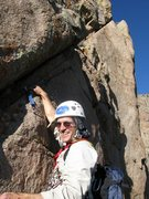 Rock Climbing Photo: Diagonal: Start of P5 and the end of the namesake ...