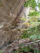 Rock Climbing Photo: The chalk line of Hellraiser