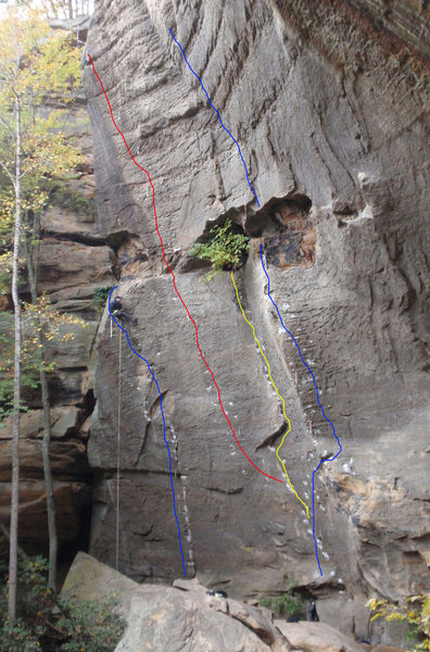 Rock Climbing Photo: Routes from left to right: Dracula '04 Lucifer The...