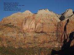 Rock Climbing Photo: Streaked Wall Routes