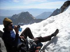 Rock Climbing Photo: Just below Thunderbolt Peak