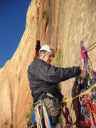 "Rock Climbing Photo: Ryan getting ready to take a ""moustache ride&..."