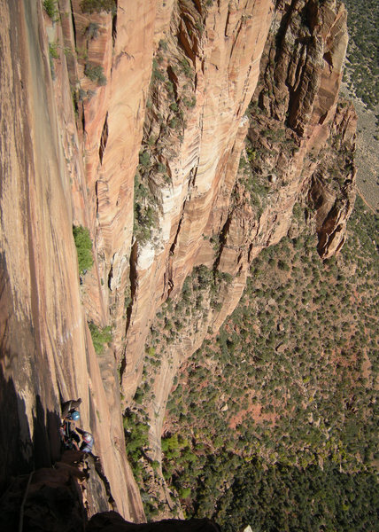 Rock Climbing Photo: getting high on the route