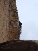 Rock Climbing Photo: Runout horn slingin. yeehaw