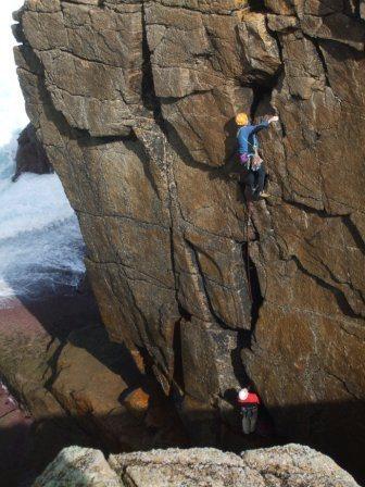 Rock Climbing Photo: Zig Zag, Sennen (photo by Andy Royle)