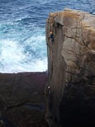 Rock Climbing Photo: Zig Zag, Sennen (photo by Andy Royle)