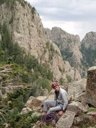 Rock Climbing Photo: Mick looking a little sad on the ledge above Top F...