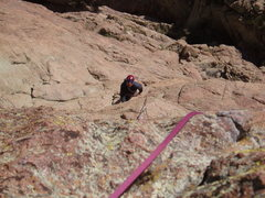 Rock Climbing Photo: Mick trying to stay warm at the belay. A very cold...
