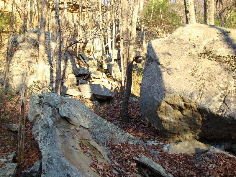 Rock Climbing Photo: Left sector stuff