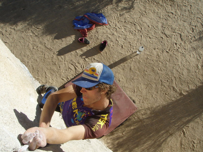 Practicing the Cobra Crack finger lock. Joshua Tree Halloween fun
