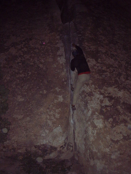 Rock Climbing Photo: Night Solo, Middle Peyote Crack, Joshua Tree