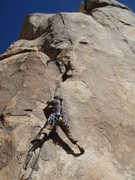 Rock Climbing Photo: Ginger on Sphincter Quits, Joshua Tree