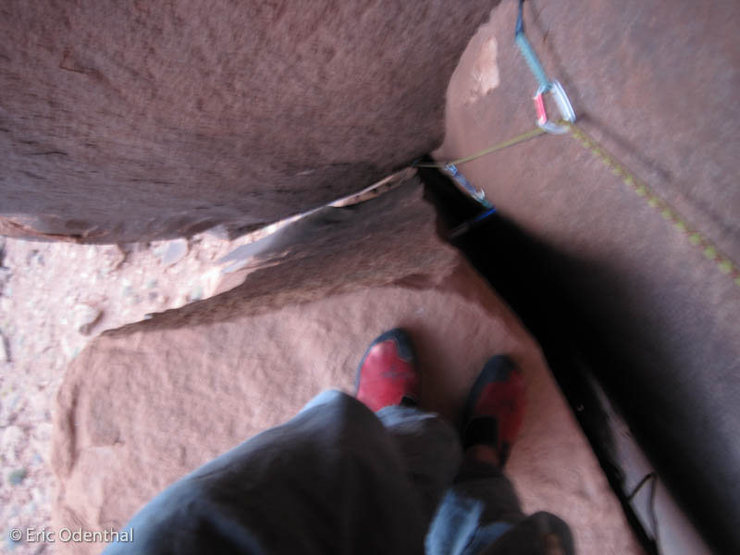looking down from the belay, #4 big bro was bomber
