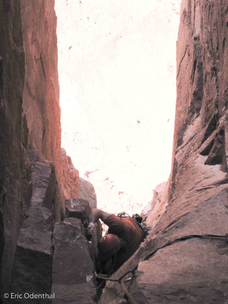 Rock Climbing Photo: coming up P2