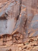 Rock Climbing Photo: The coffin follows the roof to the OW, to the sque...