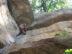 Rock Climbing Photo: Looking up Perforator