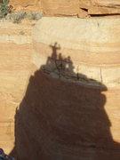 Rock Climbing Photo: Dr Rubo's Wild Ride summit shadow