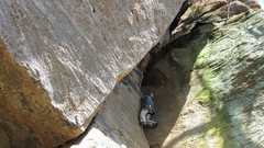 Rock Climbing Photo: Long Wall Chimney