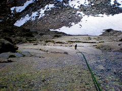 Rock Climbing Photo: Descending Pingora