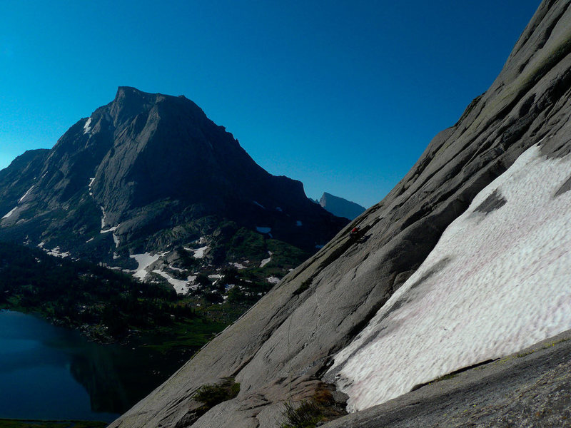 Rock Climbing Photo: P1 of the Classic Northeast Face of Pingora.