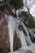 Rock Climbing Photo: Starting up one of the moderate lines at Lower Mea...