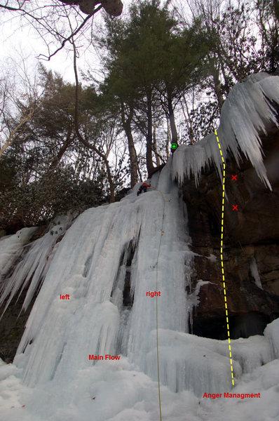 Rock Climbing Photo: Anger Managment M5/6 Ohiopyle State Park, PA