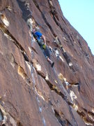 Rock Climbing Photo: Bobby was so happy to have pulled over the crux he...