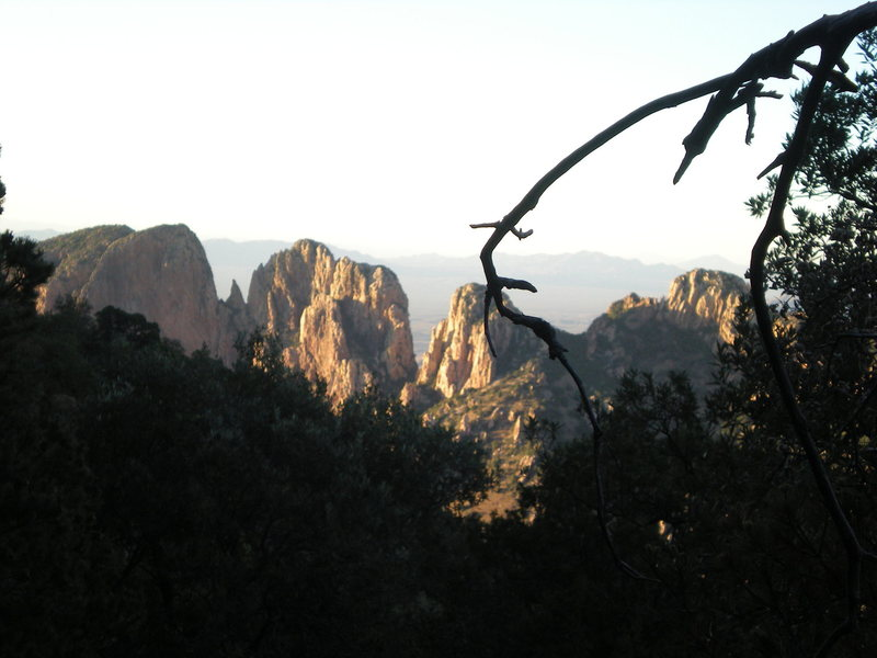 Rock Climbing Photo: Some beautiful buttresses on the reservation side ...