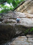 Rock Climbing Photo: Easy run to the anchors on Creature Feature