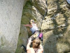 Rock Climbing Photo: Diamond in the Crack