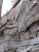 Rock Climbing Photo: The horn is at the top of the initial arete.  Note...