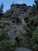 Rock Climbing Photo: The left side of Icicle Buttress.