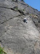 Rock Climbing Photo: Hopscotch with the upper tier of Playground Point ...