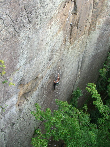 Rock Climbing Photo: Manic Impression taken from the anchors at Eye of ...