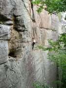 Rock Climbing Photo: Manic Impression  taken from the anchors at Eye of...