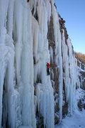 Rock Climbing Photo: Laura Hahn seconding Awakening NEI5, with a few ot...