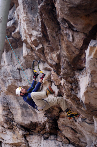 Rock Climbing Photo: Not technically ice climbing, but its training for...