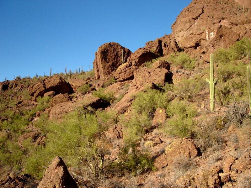 The Split boulder at Panther Peak.
