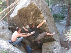 Rock Climbing Photo: Making the big reach on My Daddy Own's a Dealershi...