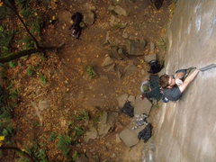 Rock Climbing Photo: Greg on Classic Crack