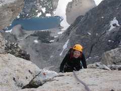 Rock Climbing Photo: Topping out on Armed Robbery/ Cloudveil Dome