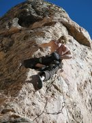 Rock Climbing Photo: Heading into the crux of Freeform.