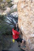 Rock Climbing Photo: James at the start of Classic Melon (V3), Joshua T...