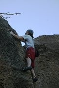 Rock Climbing Photo: Nearing the top of Pocket Rib