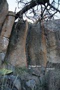 Rock Climbing Photo: Pocket Rocket Alcove Left Topo